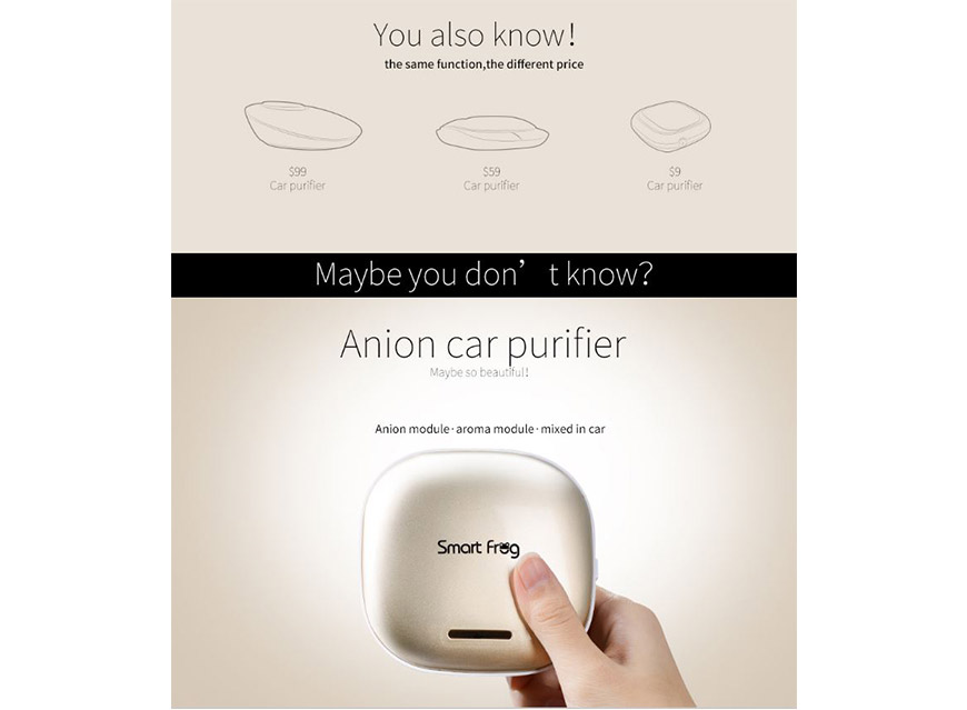 Smart Frog Cube Car Air Purifier