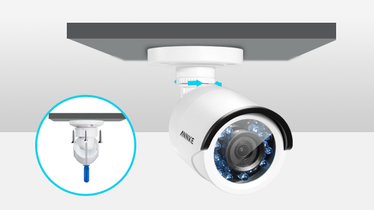 ANNKE 2CH 1080P HD TVI Smart IR-Cut IP66 CCTV Bullet Security Camera-C51BS