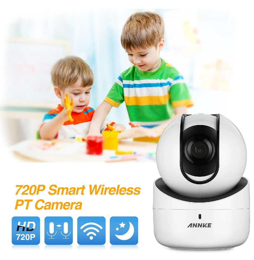 ANNKE I21AE 720P HD Video Smart Wireless Camera Pan/Tilt Two-way Audio WIFI IP Camera(White)