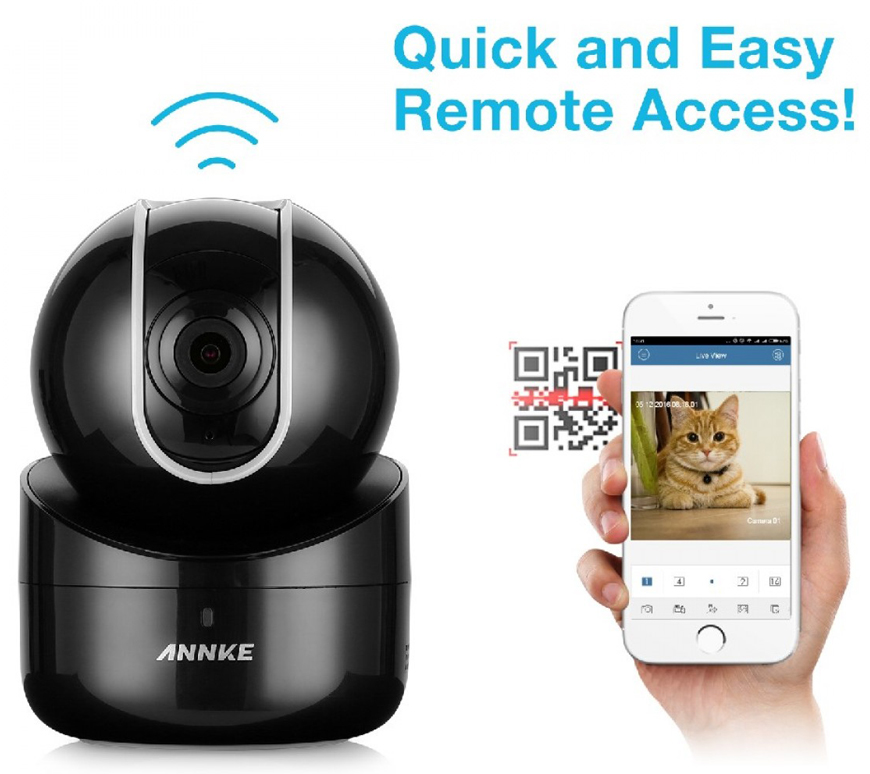ANNKE I21AE 720P HD Video Smart Wireless Camera Pan/Tilt Two-way Audio WIFI IP Camera(Black)