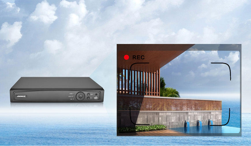 ANNKE 4CH HD 6MP POE NVR Advanced H.264+ Video Compression - N44PI