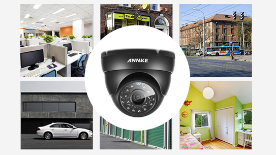 ANNKE® 4CH 720P HD TVI IR-CUT IP66 CCTV Dome Security Cameras C11BG